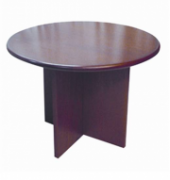 Round Veneer Meeting Table