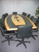 Bow Shaped Executive Boardroom Table